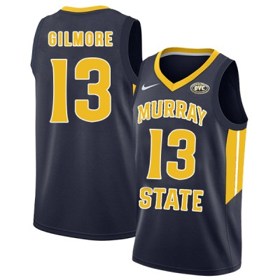 NCAA Murray State Racers 13 Devin Gilmore Navy College Basketball Men Jersey