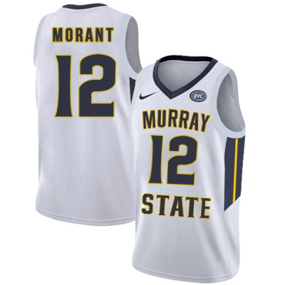 NCAA Murray State Racers 12 Ja Morant White College Basketball Men Jersey