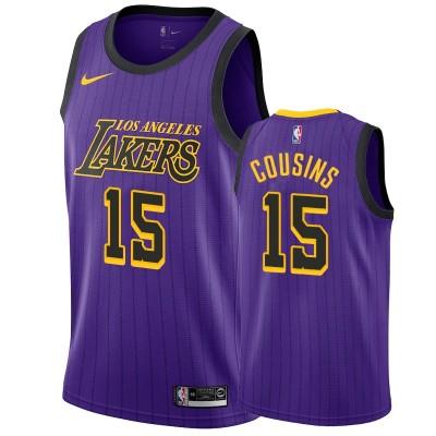 NBA Lakers 15 DeMarcus Cousins Purple City Edition Nike Men Jersey