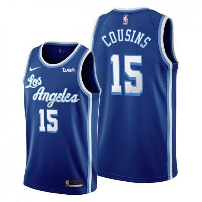 NBA Lakers 15 DeMarcus Cousins Blue Classic Nike Men Jersey