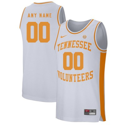 NCAA Tennessee Volunteers Customized White College Basketball Men Jersey