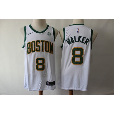 NBA Celtics 8 Kemba Walker White City Edition Nike Men Jersey with logo