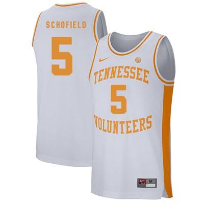 NCAA Tennessee Volunteers 5 Admiral Schofield White College Basketball Men Jersey