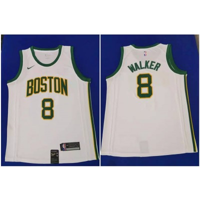 NBA Boston Celtics 8 Kemba Walker White City Edition Nike Men Jersey