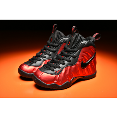 Nike Air Foamposite Pro Red Kids Shoes