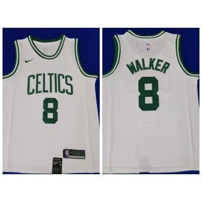 NBA Boston Celtics 8 Kemba Walker White Nike Men Jersey