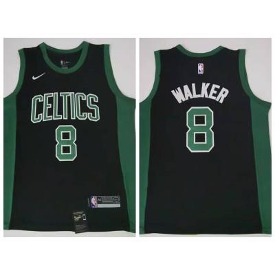 NBA Boston Celtics 8 Kemba Walker Black Nike Men Jersey