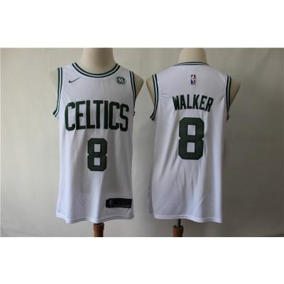 NBA Boston Celtics 8 Kemba Walker White Nike Men Jersey with logo