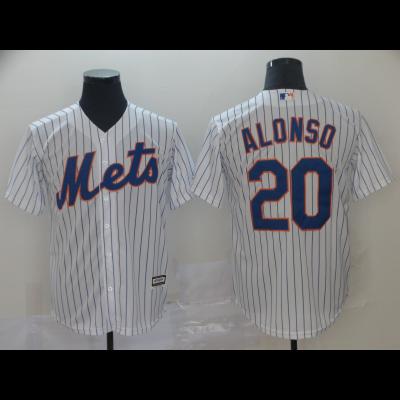 MLB Mets 20 Pete Alonso White Cool Base Men Jersey
