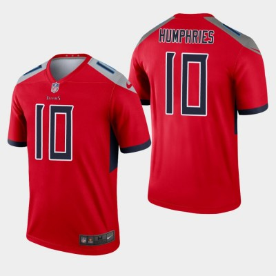 Nike Titans 10 Adam Humphries Red Inverted Legend Men Jersey