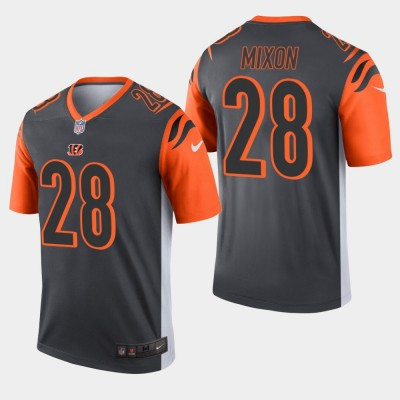 Nike Bengals 28 Joe Mixon Sliver Inverted Legend Men Jersey