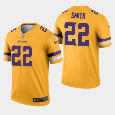 Nike Vikings 22 Harrison Smith Gold Inverted Legend Men Jersey