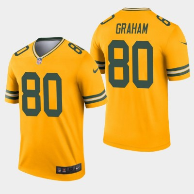 Nike Packers 80 Jimmy Graham Gold Inverted Legend Men Jersey