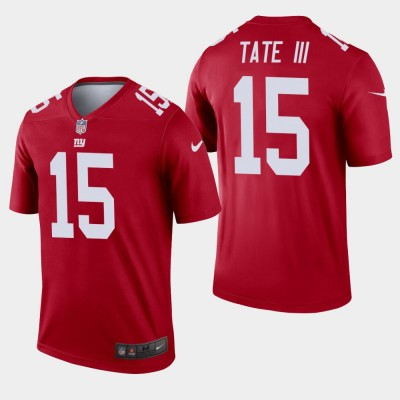 Nike Giants 15 Golden Tate Red Inverted Legend Men Jersey