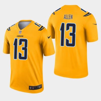 Nike Chargers 13 Keenan Allen Gold Inverted Legend Men Jersey