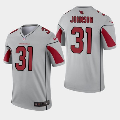 Nike Cardinals 31 David Johnson Grey Inverted Legend Men Jersey