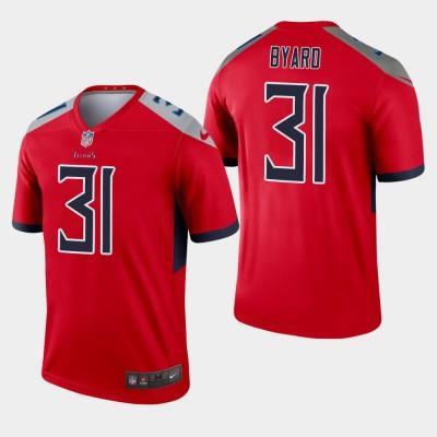 Nike Titans 31 Kevin Byard Red Inverted Legend Men Jersey