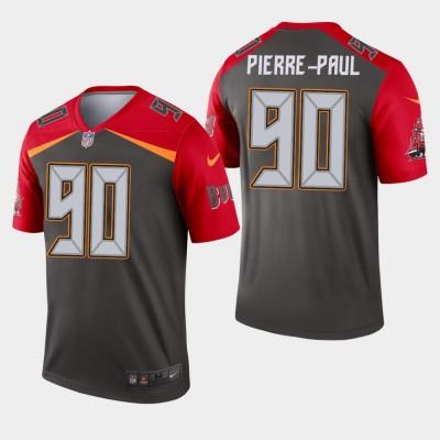 Nike Buccaneers 90 Jason Pierre-Paul Pewter Inverted Legend Men Jersey