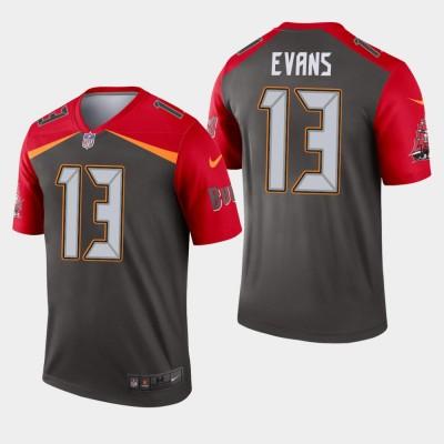 Nike Buccaneers 13 Mike Evans Pewter Inverted Legend Men Jersey