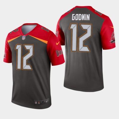 Nike Buccaneers 12 Chris Godwin Pewter Inverted Legend Men Jersey