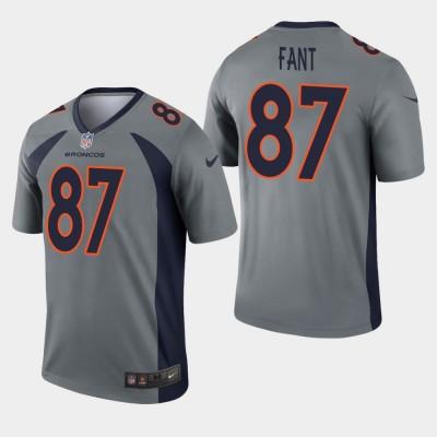 Nike Broncos 87 Noah Fant Grey Inverted Legend Men Jersey