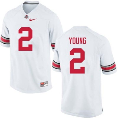 NCAA Ohio State Buckeyes 2 Chase Young White Football Men Jersey