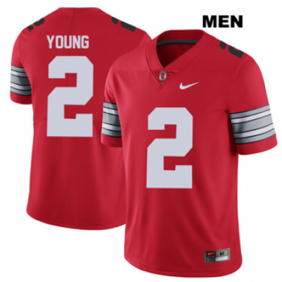 NCAA Ohio State Buckeyes 2 Chase Young Red Football Men Jersey