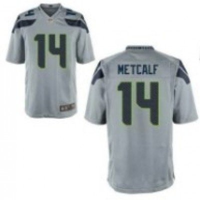 Nike Seahawks 14 D.K. Metcalf  Gray Game Youth Jersey