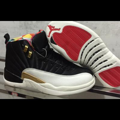 "Air Jordan 12 ""CNY"" Black White Shoes"