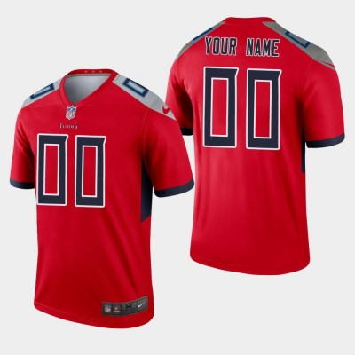 Nike Titans Customized Red Inverted Legend Men Jersey