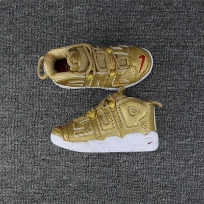 Nike Air More Uptempo Gold Kids Shoes