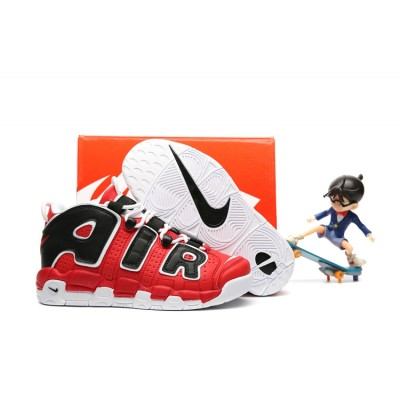 Nike Air More Uptempo Chaussures Black Red Kids Shoes