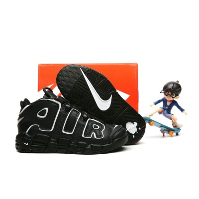 Nike Air More Uptempo Chaussures Black Kids Shoes