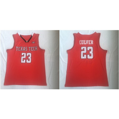 NCAA Texas Tech Red Raiders 23 Jarrett Culver Red College Basketball Men Jersey