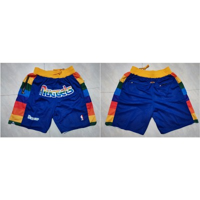 NBA Nuggets Blue Just Don Mesh Shorts