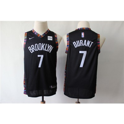 NBA Nets 7 Kevin Durant Black City Edition Nike Youth Jersey