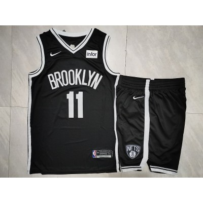 NBA Nets 11 Kyrie Irving Black Nike Men Jersey(With Shorts)