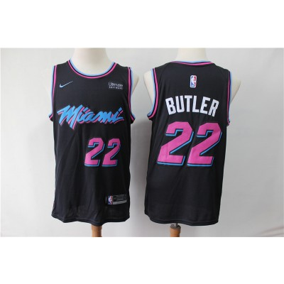 NBA Heat 22 Jimmy Butler Black City Edition Nike Men Jersey with logo