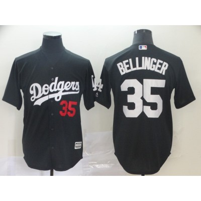 MLB Dodgers 35 Cody Bellinger Black Turn Back Men Jersey