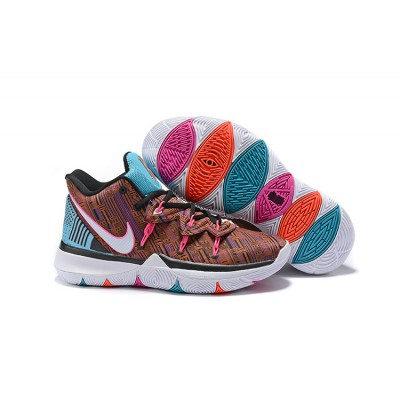 Nike Kyrie 5 Brown Blue Shoes