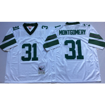 NFL Eagles 31 Wilbert Montgomery White M&N Throwback Men Jersey