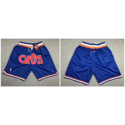 NBA Cavaliers Blue Just Don Mesh Throwback With Pocket Shorts