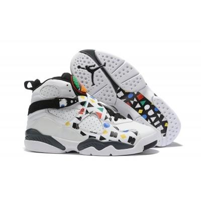 Air Jordan 8 White Black Colorful Shoes