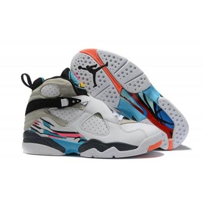 Air Jordan 8 Grey White Blue Shoes