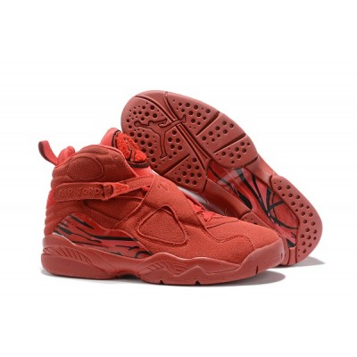 Air Jordan 8 All Red Shoes