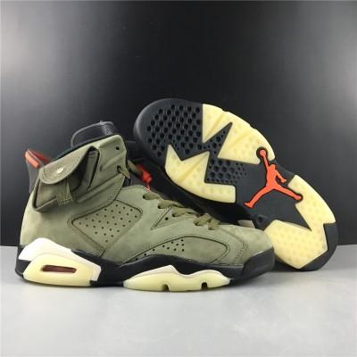 Air Jordan 6 Olive Green Shoes