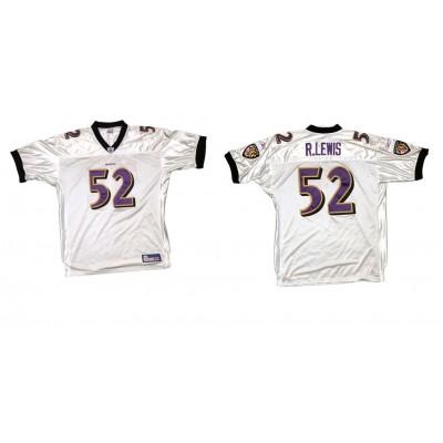 Reebok Baltimore Ravens 52 Ray Lewis White Men Jersey