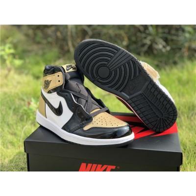 Air Jordan 1 Black Gold Shoes