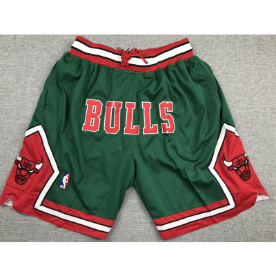 NBA Bulls Green Mesh Retro Shorts