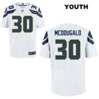 Nike Seattle Seahawks 30 Bradley McDougald Stitched Alternate White Elite Youth Jersey